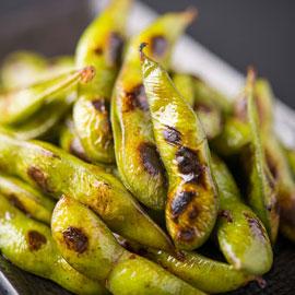 枝豆オリーブオイル焼き